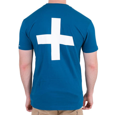 Recovery Unisex Blue Logo Short-Sleeved T-Shirt