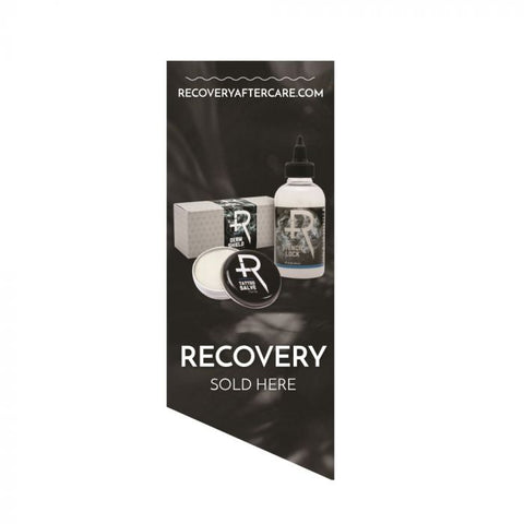 Recovery Sold Here Window Cling — Smoke Background — Price Per 1
