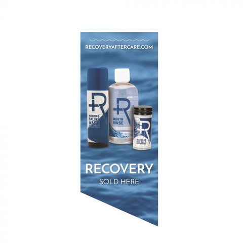 Recovery Sold Here Window Cling — Water Background — Price Per 1