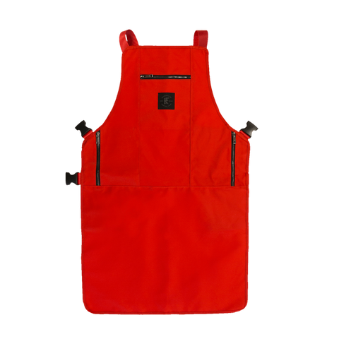 Knife & Flag Non-Porous Core Apron – Red