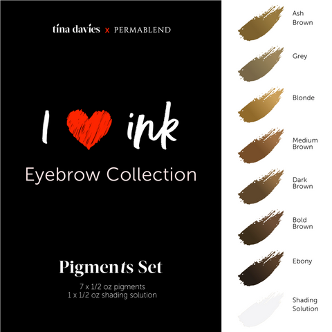 Tina Davies 'I ❤ Ink' - Eyebrow Collection