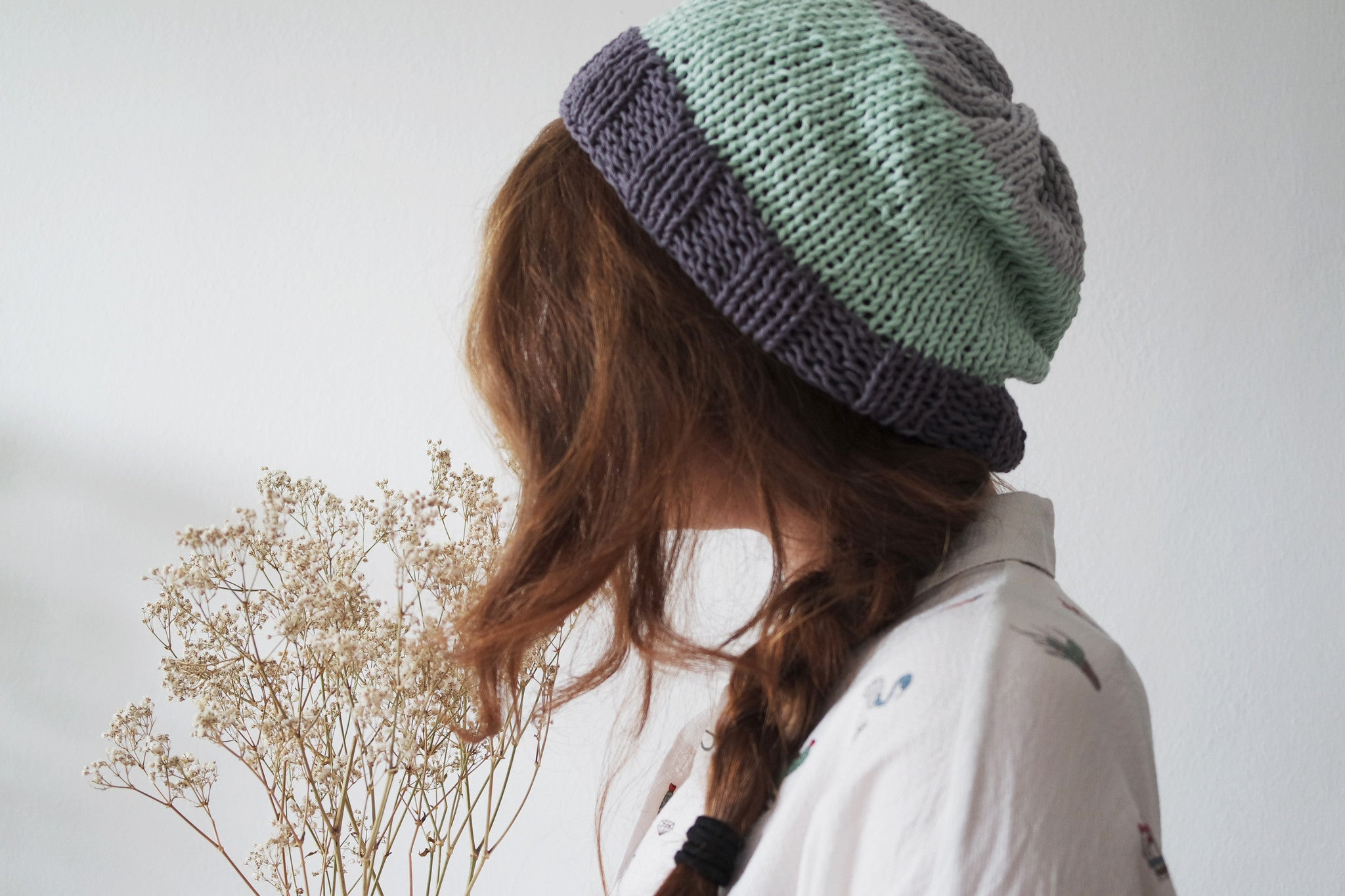 Colour Block Beanie Knitting Pattern