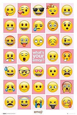 What's Your Emoji? Poster Print Wall Art Large Maxi