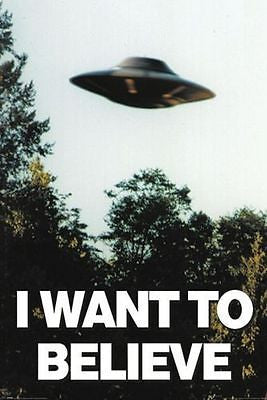 UFO Flying Saucer Poster The X-Files Alien Spaceship U.F.O. Print Wall Large
