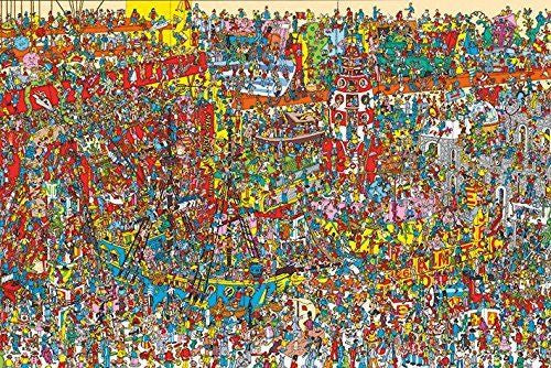 Where's Wally? Poster Print Wall Art Large Maxi