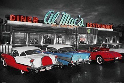 American Diner Retro 1950s Large Maxi Wall Poster
