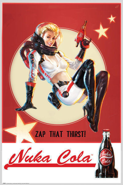Fallout 4 Nuka Cola Computer Video Game Poster Print Wall Art Large