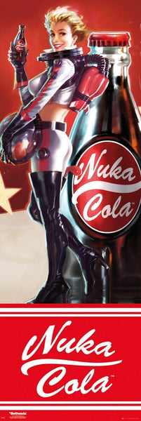 Fallout 4 Nuka Cola Computer Video Game Door Poster Print Wall Art Large
