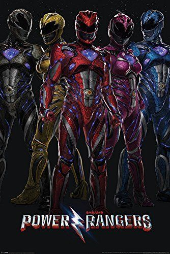 Power Rangers Movie Film Poster Print Wall Art Large Maxi