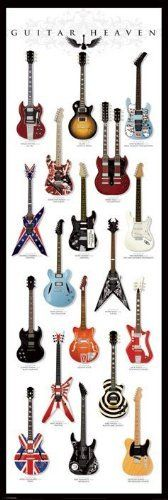 Guitar Heaven Door Poster Print Wall Art Large
