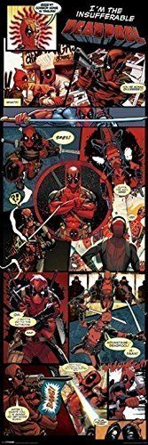 Deadpool Marvel Comics Dead Pool Door Poster Print Wall Art Large