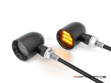 """DERBY"" Black CNC Machined Alum Classic LED Indicators"