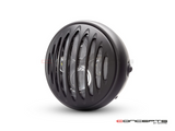 "7"" Matte Black Multi Projector LED Headlight + Prison Grill"