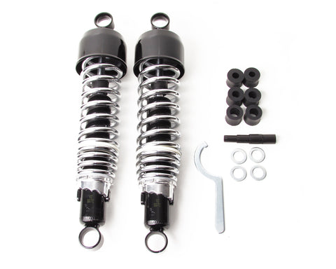 Black / Chrome Rear Shocks - Universal