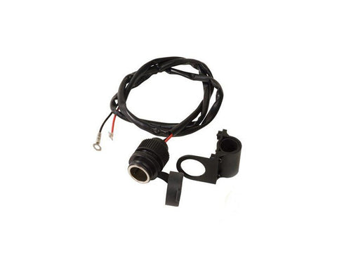 12V Cigarette Connector with Handlebar Bracket