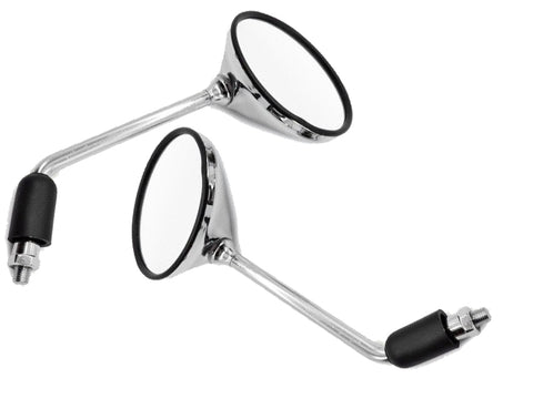 OEM Replacement Mirrors - Round - Black or Chrome