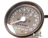 Universal Black Speedometer - LED 4 Function