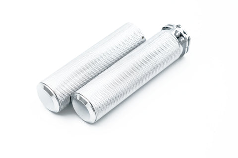 "1""  HD Knurled Grips - Chrome"
