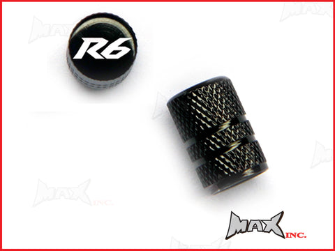 YAMAHA R6 Set Of 2 Lasered Logo Tire Valve Caps