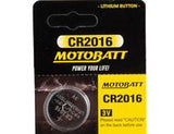 MOTOBATT CR2016 3V LITH BC BATTERY