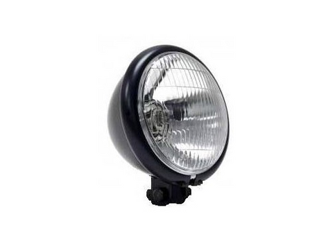 Black Headlight – Bottom Mount 14cm