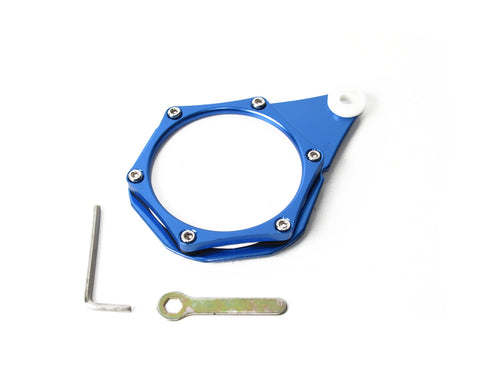 Aluminium License Disc Holder - Blue