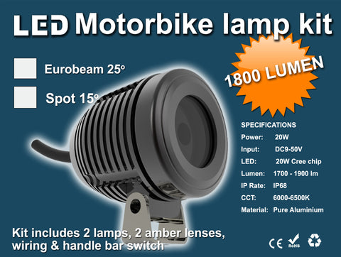 20w Cree Spot Light Set