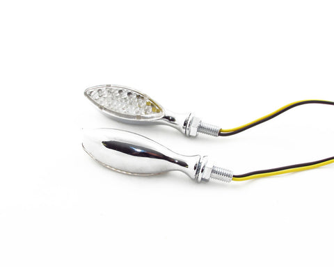 Cat Eye LED Chrome Turn Signal / Indicators