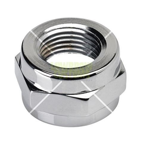 Lowbrow Customs Chrome Petcock Adapter Nut - 3/8 inch NPT to 22 MM