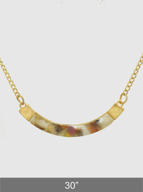 Gold Aceate Long Pendant