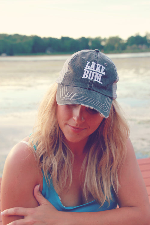 Charcoal Lake Bum Trucker Hat