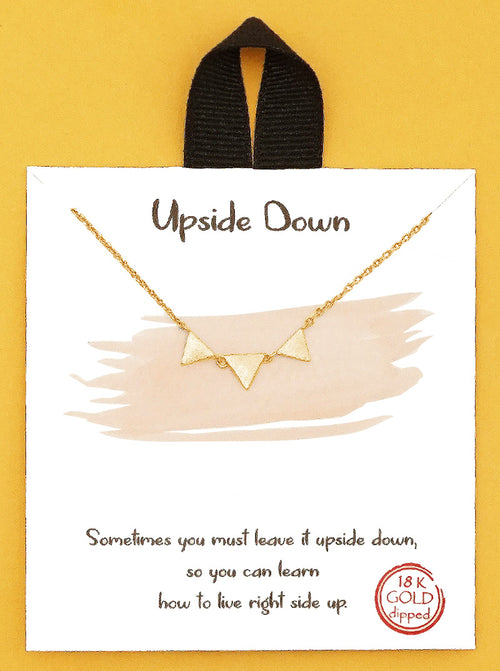 Gold Upside Down Triangle Necklace