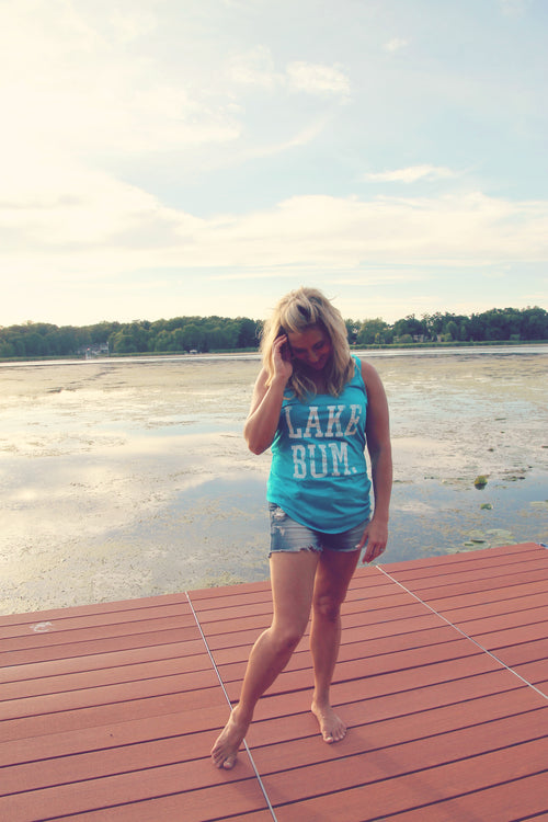 Bright Blue Lake Bum Tank