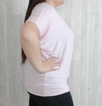 PLUS Light Pink Short Sleeve Dolman