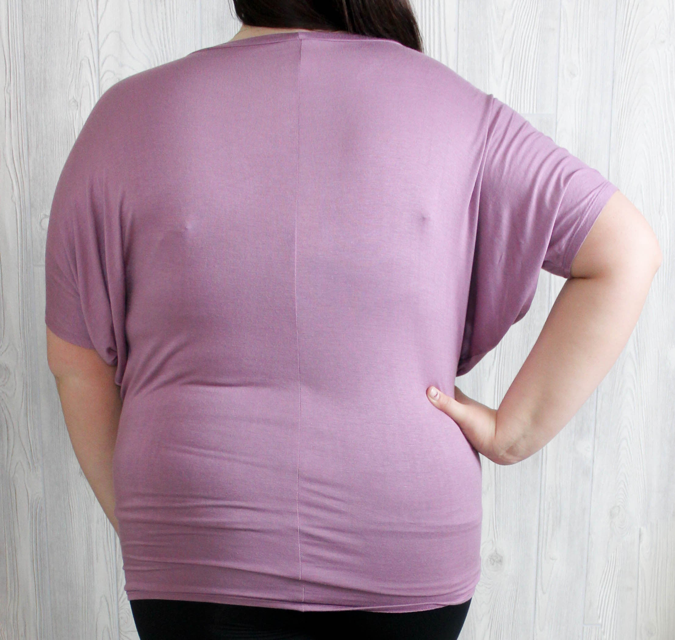 PLUS Mauve Short Sleeve Dolman