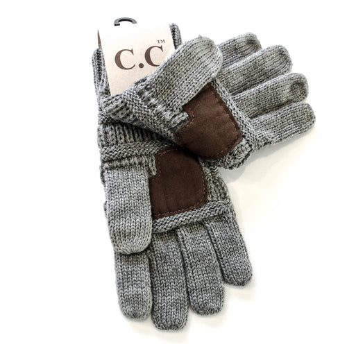 Kids CC Knit Gloves