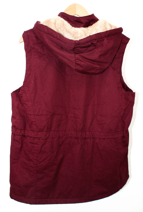PLUS Wine Fur Lined Vest