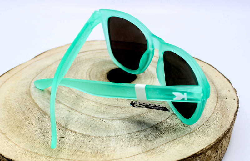 Frosted Rubber Mint Polarized Sunglasses