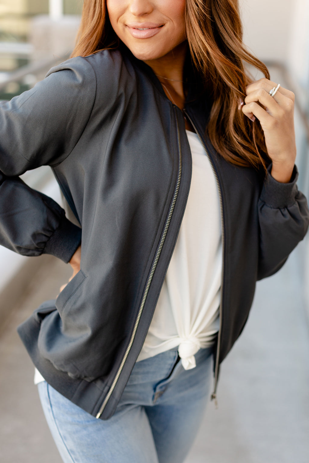 Ampersand Ave. Essential Charcoal Bomber