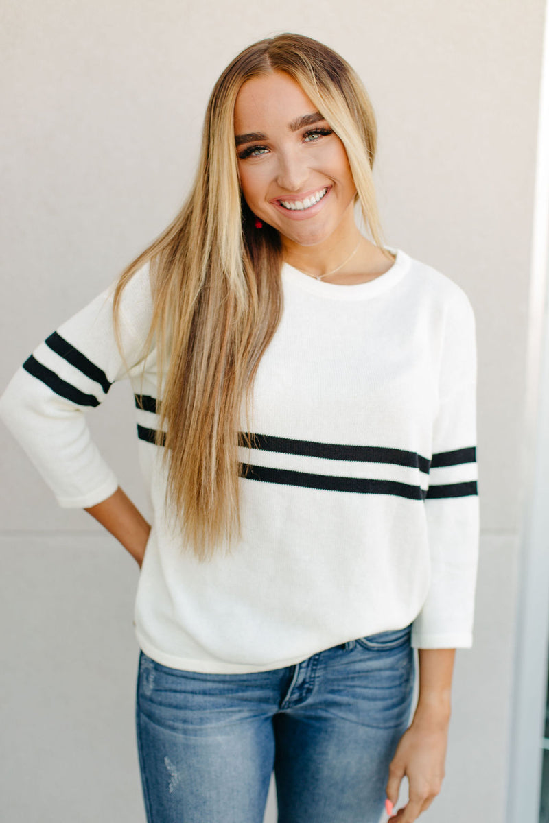 Ampersand Ave. Varsity Stripe Sweater