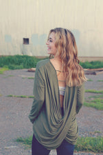 Olive Open Back Long Sleeve
