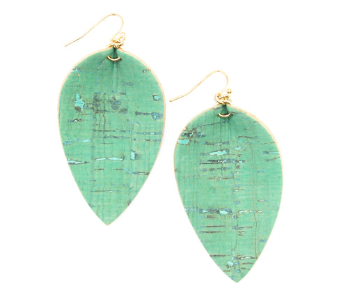 Teal Pinched Petal Earring