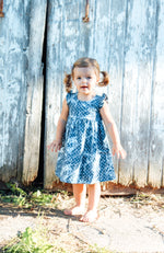 Girls Denim Mineral Wash Dress