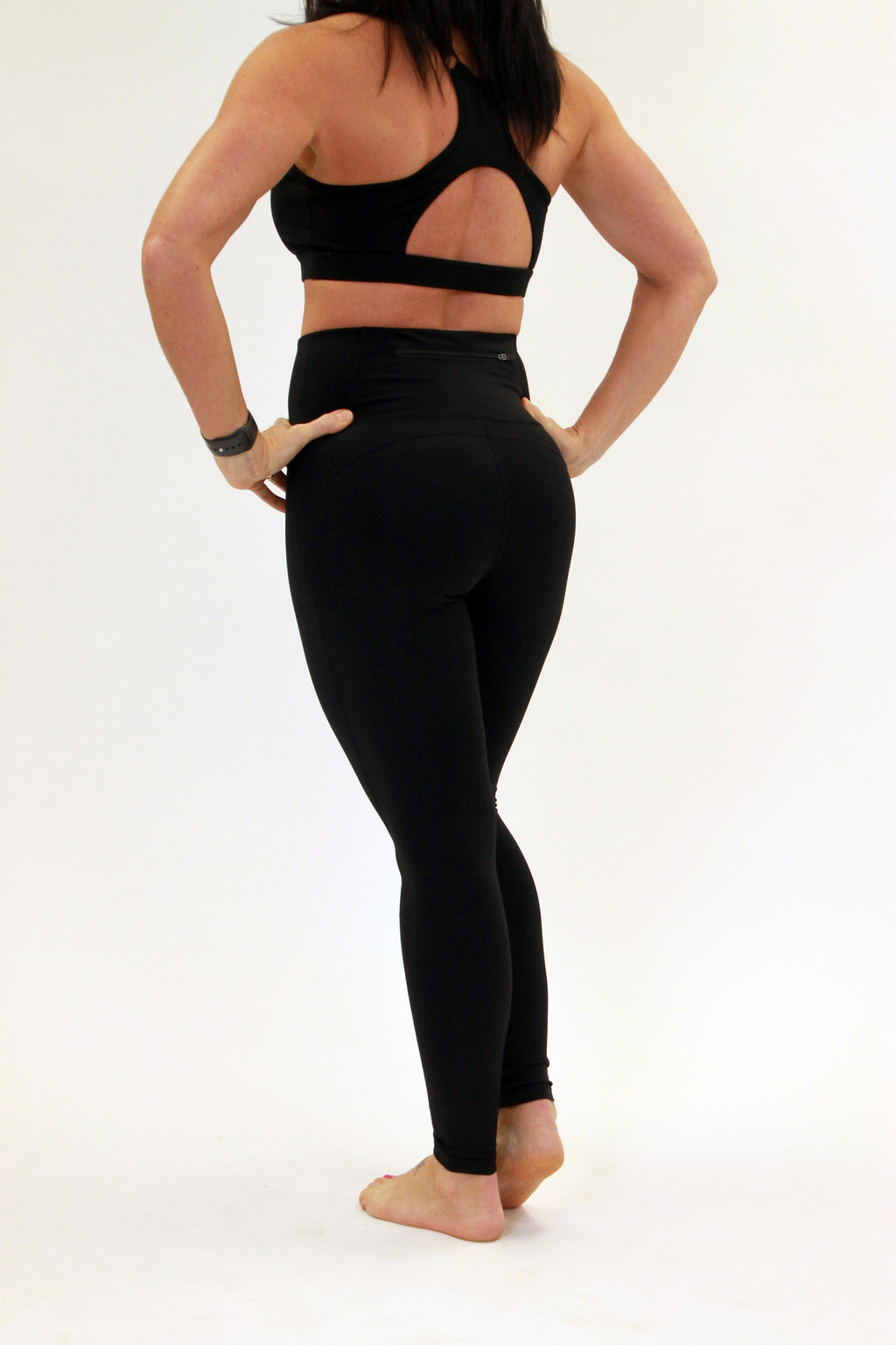 Black Solid Eco Performance Legging