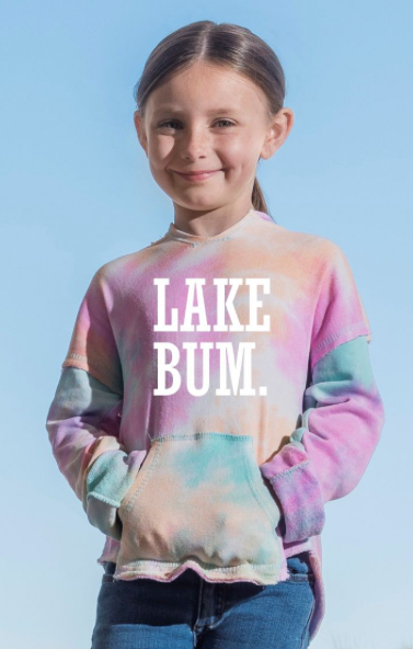 Youth Tye Dye Lake Bum Hoodie