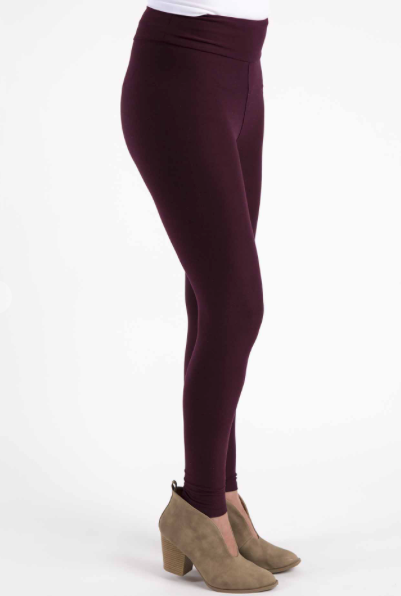 Burgundy Solid Legging