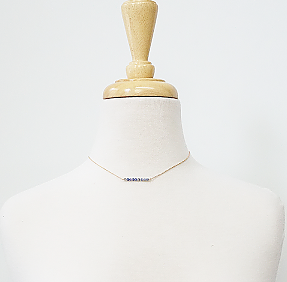 Gold Stone Choker Necklace