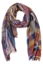 Plaid Overzied Fringe Scarf