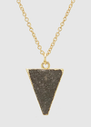 Charcoal Stone Triangle Pendant
