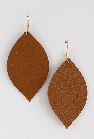 Natural Pinched Petal Earring